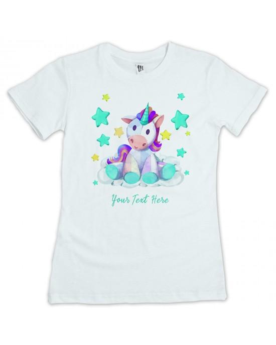Personalised Unicorn Kids T-Shirt