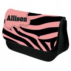 Pink Zebra Make up bag. Beautiful Design Make Up / Cosmetic Bag