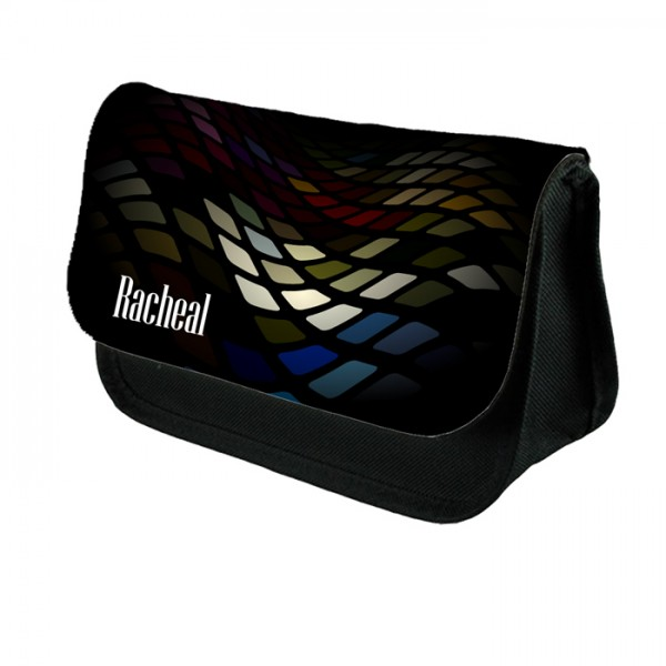 Abstract Squares Make up bag. Unusual Design Make Up / Cosmetic Bag