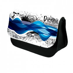 Abstract Blue & purple Swirls Make up bag. Unusual Design Make Up / Cosmetic Bag
