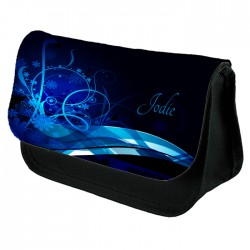 Beautiful Blue Abstract Design Make Up / Cosmetic Bag Perfect Personalised Birthday Gift Idea