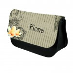 Textured Effect Floral Design, Personalised Make Up / Cosmetic Bag