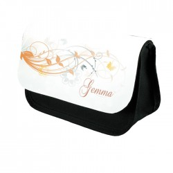 Simple Floral Design For This Make Up Bag / Cosmetic Bag