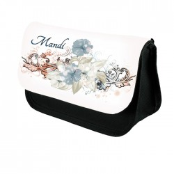Vintage Look, Personalised Make Up Bag Perfect Gift Idea for Her. Favours Birthdays Christmas.