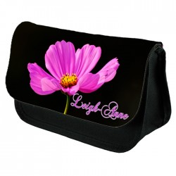 Large Pink Flower Personalised, Make up bag.  Perfect Gift Idea for Her. Favours Birthdays Christmas