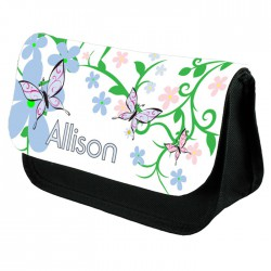 Butterfly Design Personalised, Make up bag.  Perfect Gift Idea for Her. Favours Birthdays Christmas