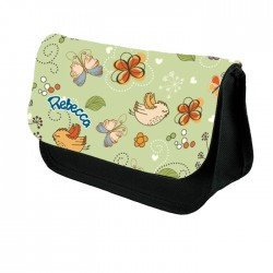 Butterfly Personalised Gift Pencil Case / Make Up Bag. Birthday / Christmas Gift Idea