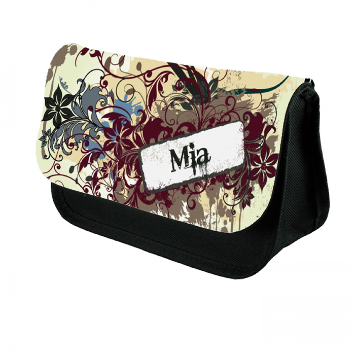 Grungy looking design pencil case make up bag birthday