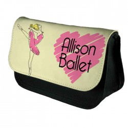 Ballet, Personalised Make Up Bag Perfect Gift Idea for Her. Wedding Favours Birthdays Christmas.