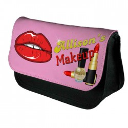 Funky Lips Personalised Ladies Girl Make Up Cosmetics Case Bag Pencil Case Christmas Gift