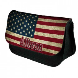 USA Stars & Stripes Personalised Make Up Bag Perfect Gift Idea for Her. Wedding Favours Birthdays Christmas.