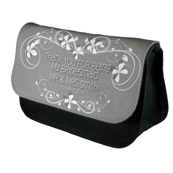 Wedding Favour Personalised Make Up Bag Perfect Gift Idea for Her. Wedding Favours Birthdays Christmas.