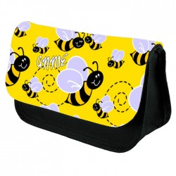 Cute Bumble Bee Pencil Case / Make Up Bag. Birthday / Christmas Gift Idea