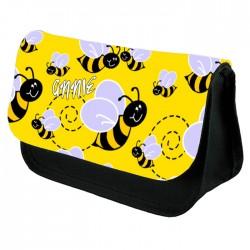 Cute Bumble Bee Pencil Case / Make Up Bag. Birthday / Christmas Gift Idea