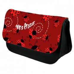 Cute Lady Bird Pencil Case / Make Up Bag. Birthday / Christmas Gift Idea