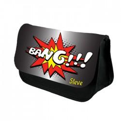 Comic Bang Personalised Pencil Case / Make Up Bag. Birthday / Christmas Gift Idea