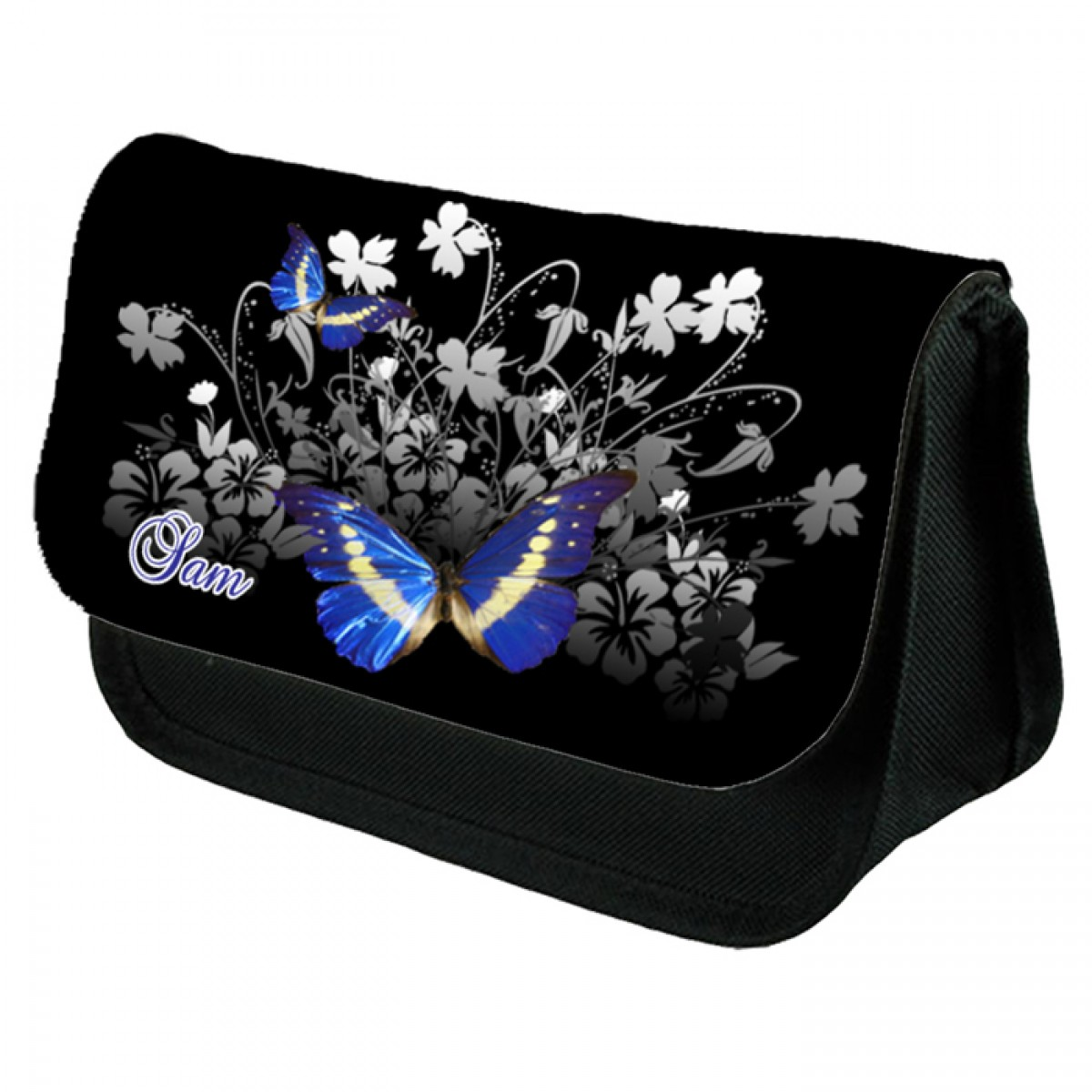 Beautiful Butterfly Personalised Pencil Case Make Up Bag Birthday Christmas Gift Idea