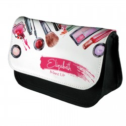 Personalised Beautiful Water Colour Make up Design Make up case, Cosmetic bag, Pencil Case.
