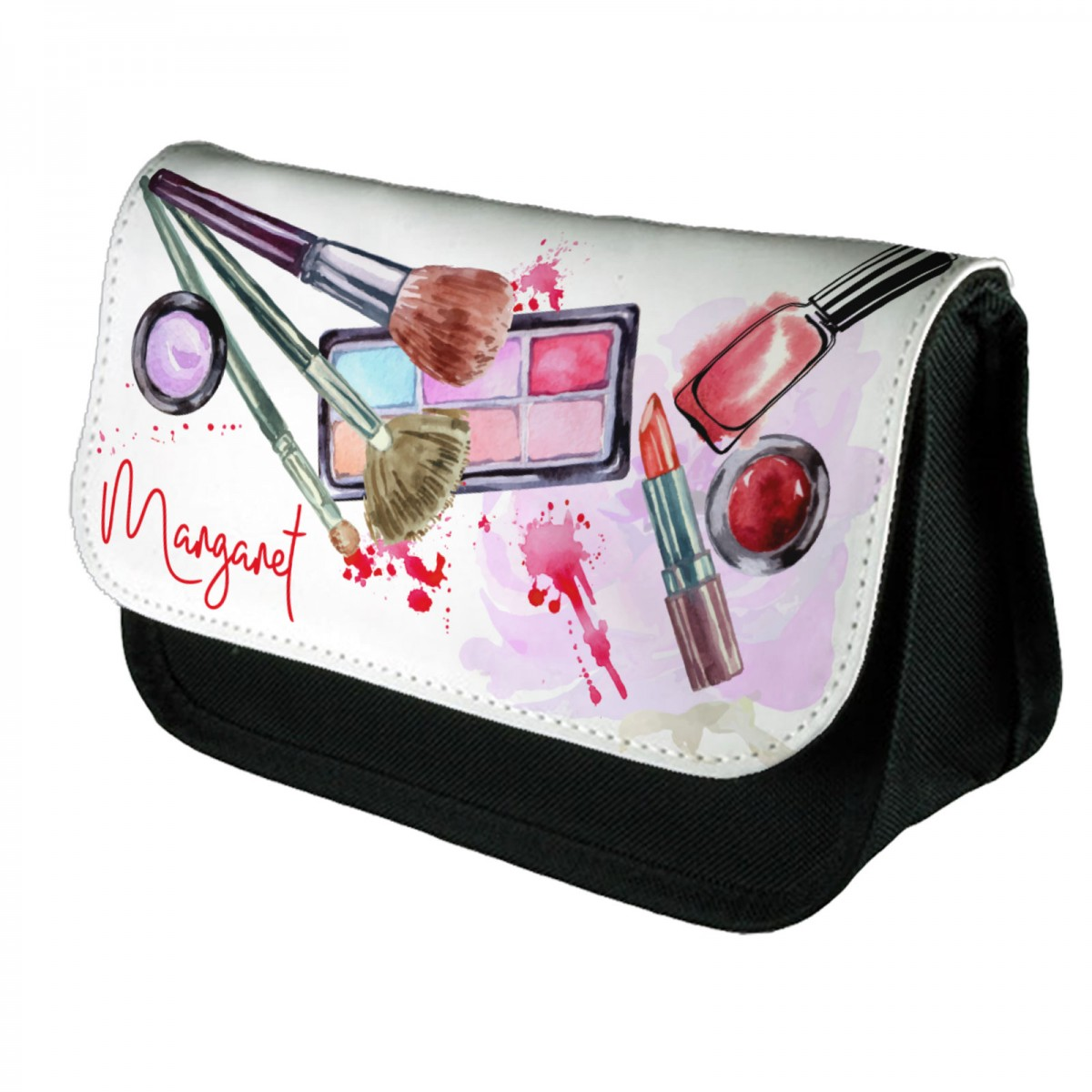 Personalised Beautiful Water Colour Make Up Cosmetic Bag