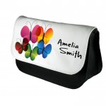 A Pretty Abstract Butterfly Personalised Make Up Bag Perfect Gift Idea for Her. Wedding Favours Birthdays Christmas.