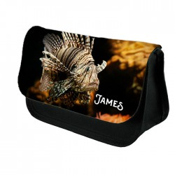 Personalised Lion Fish Design Make up case, Cosmetic bag, Pencil Case.