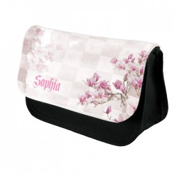 Personalised Beautiful Floral Blossom Design Make up case, Cosmetic bag, Pencil Case.