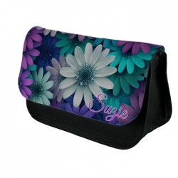 Personalised Beautiful Daisy's Floral Design Make up case, Cosmetic bag, Pencil Case.