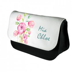 Personalised Beautiful Water Colour Blossom Design Make up case, Cosmetic bag, Pencil Case.