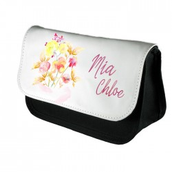 Water Colours Beautiful Personalised Blossom Design Make up case, Cosmetic bag, Pencil Case.