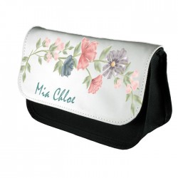 Personalised Water colour Beautiful Blossom Design Make up case, Cosmetic bag, Pencil Case.