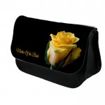 Personalised Beautiful Yellow Rose Floral Design Make up case, Cosmetic bag, Pencil Case.