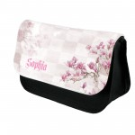A Pretty Water colour Floral Personalised Make Up Bag.