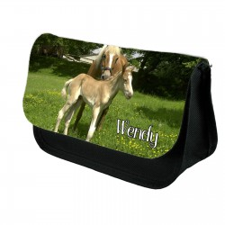 Personalised Pencil case with a beautiful Horse foal print.