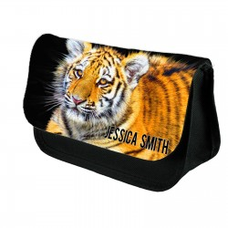 Personalised Tiger Stationary case, Cosmetic bag, Pencil Case.