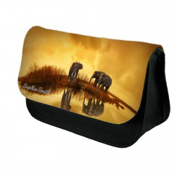 Personalised Savanna Elephant Stationary case, Cosmetic bag, Pencil Case.