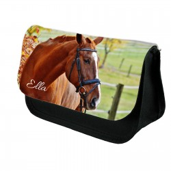 Personalised Horse pony Stationary case, Cosmetic bag, Pencil Case.