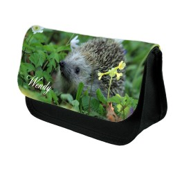 Personalised Hedge Hog Stationary case, Cosmetic bag, Pencil Case.