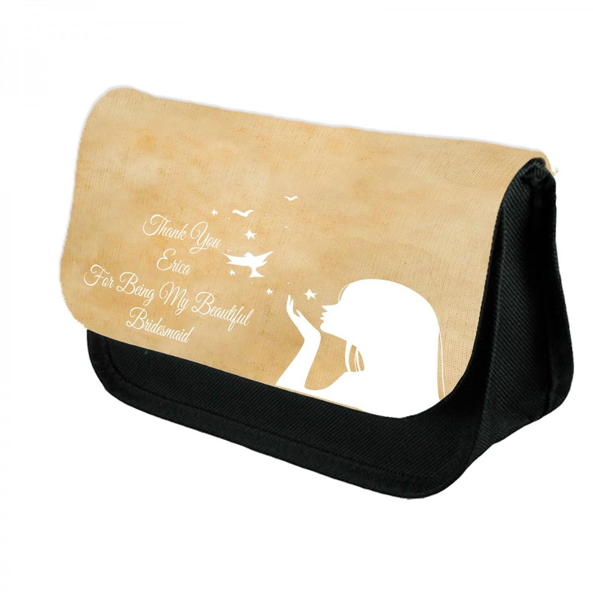 Name Make Up Bag - Personalised Cosmetic Bag - Personalized Makeup Bag - Cosmetic  Bag -