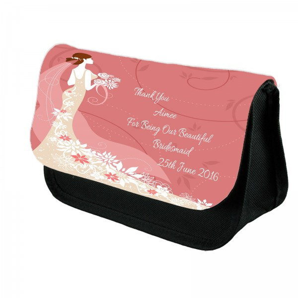 Personalised Bridesmaid Maid of Honour Make Up Bag.