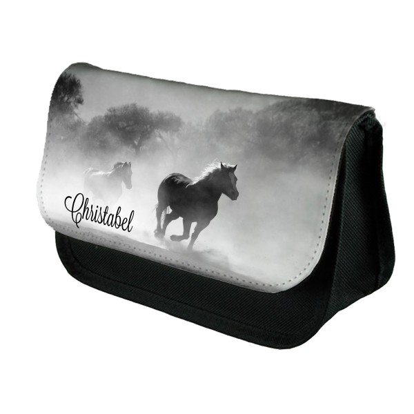Personalised Horses in the mist pencil case