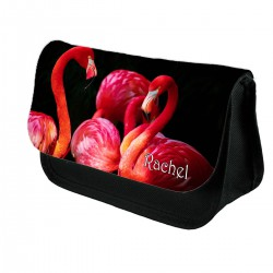 Personalised Flamingo pencil case, Makeup bag
