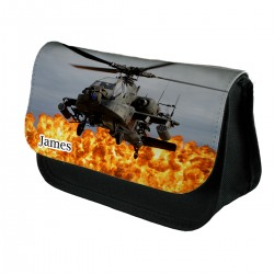 Personalised Helicopter pencil case