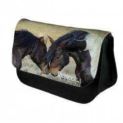 Personalised Kissing Horse pencil case.