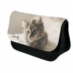 Cute Kitten Personalised pencil case.