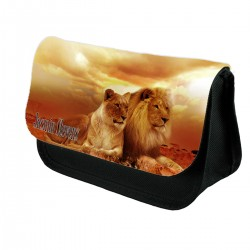 Lion and Lioness Personalised Pencil Case.
