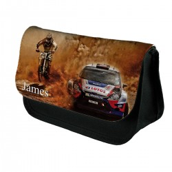 Personalised Dacar rally Raceing Car and Bike Pencil Case