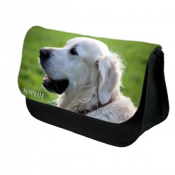 Personalised Retriever Dog Pencil Case
