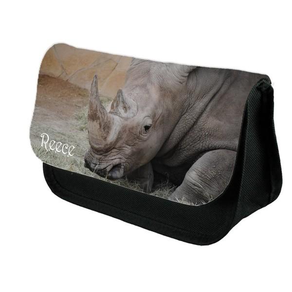 Personalised Rhino, rhinoceros Pencil Case