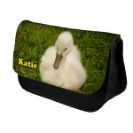Baby Swan Personalised Make Up / Cosmetic Bag / Pencil Case For School Great Fun Gift