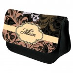 Classical Looking with label, Personalised Pencil Case / Make Up Bag. Birthday / Christmas Gift Idea